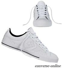 Women Boy CONVERSE All STAR PLAYER PERFORATED LEATHER Trainers Shoes UK SIZE 3.5