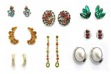 Eclectic Ensemble of Vintage Earrings -  1940's to now - choose your faves