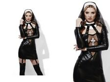 Miss Behave Nun Costume Ladies Sexy Nun Fancy Dress Outfit Size 6-18
