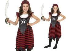 Girls Pirate Skull And Crossbones Costume Kids Fancy Dress Outfit