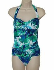 NWT Tommy Bahama S sexy shirred bandeau tummy control 2pc tankini set swimsuit