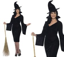 Ladies Witch Plus Size Witches Halloween Fancy Dress Costume Size 16-30