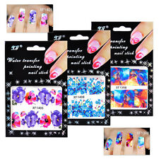 Beauty Flower Design Water Transfer Manicure Nail Art Decal Sticker Decoration