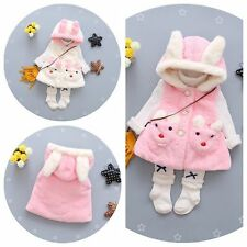 NWT Toddler Kids Baby Girls Warm outerwear Hooded Vest coat Kids Girls Clothes