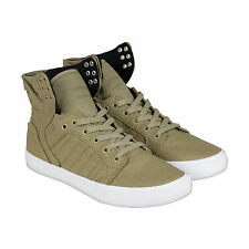 Supra Skytop D Mens Brown Canvas High Top Lace Up Sneakers Shoes