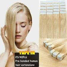 Tape In Seamless Skin Weft 100% Remy Human Hair Extensions Best Choice US I298