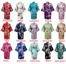 Chinese Women Silk Rayon Robe Kimono Bath Gown Nightgown Satin Robe S TO XXXL