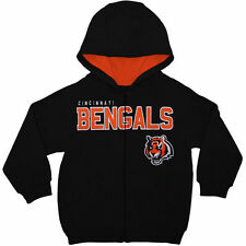 Cincinnati Bengals Toddler Fan Gear Stated Full Zip Hoodie - Black - NFL