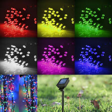 50 100 200 LED Solar Powered Fairy String Xmas Tree Party Lights Outdoor Garden
