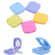 Mirror Contact Lens Travel Kit Easy Carry Case Storage Holder Container Box New