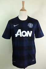 Nike DRI-FIT Manchester United S/S Away Football Shirt 2012/2013 Blue XXL