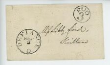 Mr Fancy Cancel Stampless Defiance O Paid 3 Embossed Ladies Cvr #2969