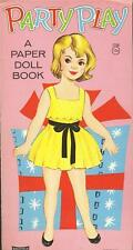 1960's PARTY PLAY: A PAPER DOLL BOOK Uncut! Saalfield #1756, SCARCE