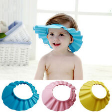 New Soft Baby Kids Children Shower Cap Hat Wash Hair Shield Shampoo Bath Bathing