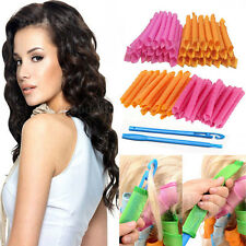 20~40Pcs DIY 45CM Magic Leverag Hair Curlers Tool Styling Rollers Spiral Circle