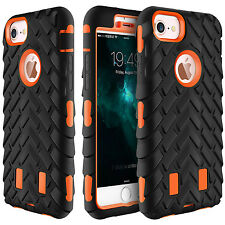 For iPhone 7 6 6s Plus Slim Heavy Duty Hybrid Armor Rubber Shockproof Cover Case