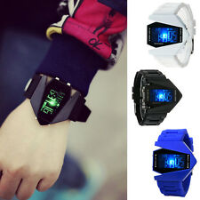 Fashion Womens Mens Digital LED Analog Quartz Alarm Date Sports Wrist Watch HK