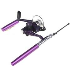 Mini Aluminum Pocket Pen Fishing Rod Pole + Reel Assorted Color M8U1