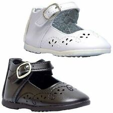 Leather Tots 8904 Infant Toddler Girls Black OR White Mary Jane Shoes