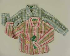 UNITED COLORS BENETTON GIRL SHIRT GREEN PINK EMBROIDE