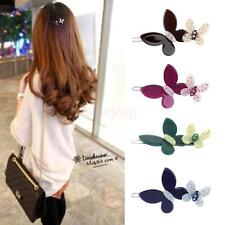 Women Girls Faoshion Butterfly Hair Clip French Updo Hair Pin Snap Barrette