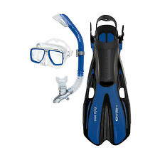 Head Tarpon2/Barracuda Volo Mask Snorkel Fins Set Scuba Diving Snorkeling Blue