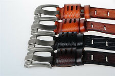 NEW Men's Casual Real Cowhide Genuine Leather Belt Dress Waistband Designer Belt