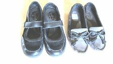 Womens Born BOC Gray Loafers BC7793 Shoes Sz6 and Black BC3552 flats size 7.5