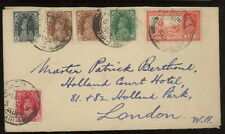 INDIA 1939 multi-franked cover Calcutta to UK airmail?