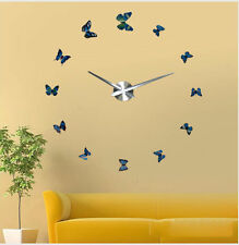 Creative Modern DIY Wall Clock 3D Sticker Home Room Office Decor Time Interior