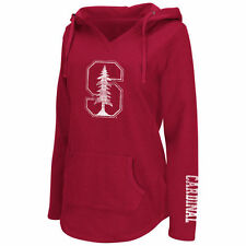 Stanford Cardinal Colosseum Women's Walkover V-Neck Hoodie - Cardinal - College