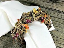 Fall / Autumn Pip Berry Grapevine Napkin Rings for Thanksgiving Table Decoration
