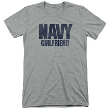 Navy Girlfriend Mens Tri-Blend Short Sleeve Shirt