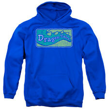 Dragon Tales Logo Distressed Mens Pullover Hoodie