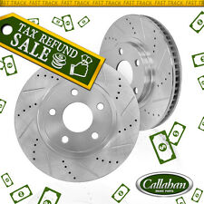 FRONT DRILLED AND SLOTTED BRAKE ROTORS 2008 - 2013 BMW 328 328i 328Xi RWD AWD