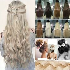 Excellent Long 3/4 Full Head Clip in Hair Extensions Curly Wavy Best Quality Fkz