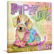 Marmont Hill - 'Puppy Love' by Connie Haley Painting Print on Wrapped Canvas