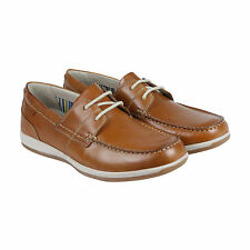 Clarks Fallston Style Mens Tan Leather Casual Dress Lace Up Oxfords Shoes
