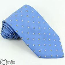 Classic Tie WINDSOR Light Blue Solid 100% Silk Made in Italy Business Designers