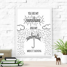 Dilemma Posters You Are My Sunshine Framed Art