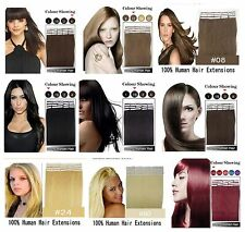 20'' 100g Deluxe Thick Remy Tape Weft Hair Clip In Real Human Hair Extensions