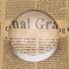 Crystal Glass Dome Magnifier Paperweight Map Magnifying Tool for Reading L6C1