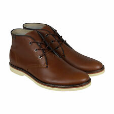 Lacoste Sherbrooke Hi 8 Mens Tan Leather Casual Dress Lace Up Boots Shoes