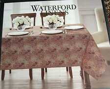 Waterford Paisley Tablecloth  Spice 100% Cotton  Easy Care Stain Res. 70 Round