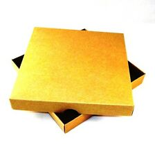 6x6 Brown Kraft Greeting Card Boxes, Gift, Free Delivery. Coloured. Choose Qty