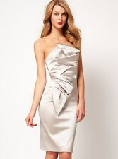 New KAREN MILLEN Satin BNWT £175 Pencil Cocktail Evening Party Wedding Dress