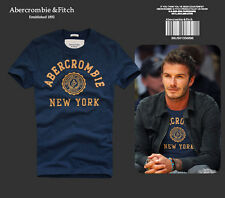 Brand New Mens Abercrombie & Fitch T shirts by AF tee in BLUE size S M L XL XXL