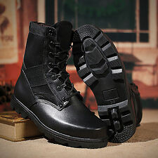 Mens Winter Retro Combat England-style Military Boots Short Lace Up Shoes