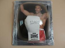 Signed Michael Watson VIP White Boxing Glove in Dome Frame   Proof COA