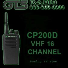 MOTOROLA CP200D TWO-WAY ANALOG RADIO VHF 16CH COMMERCIAL/POLICE/SECURITY/EMS